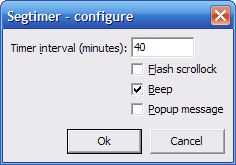 Segtimer-configure