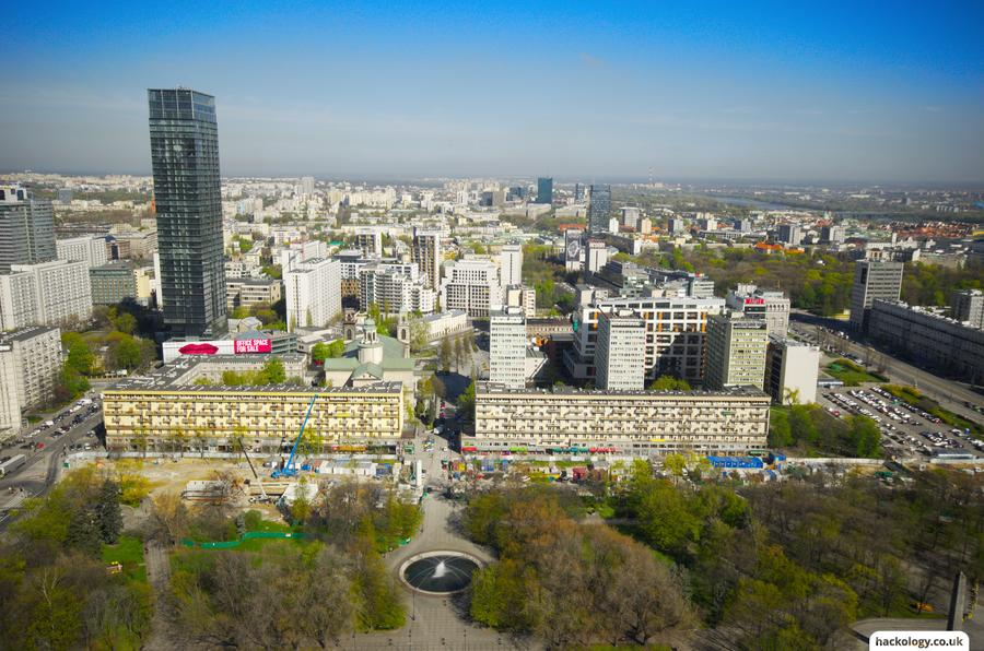 Warsaw, from the 30th floor terrace of the Palace of Science and Culture