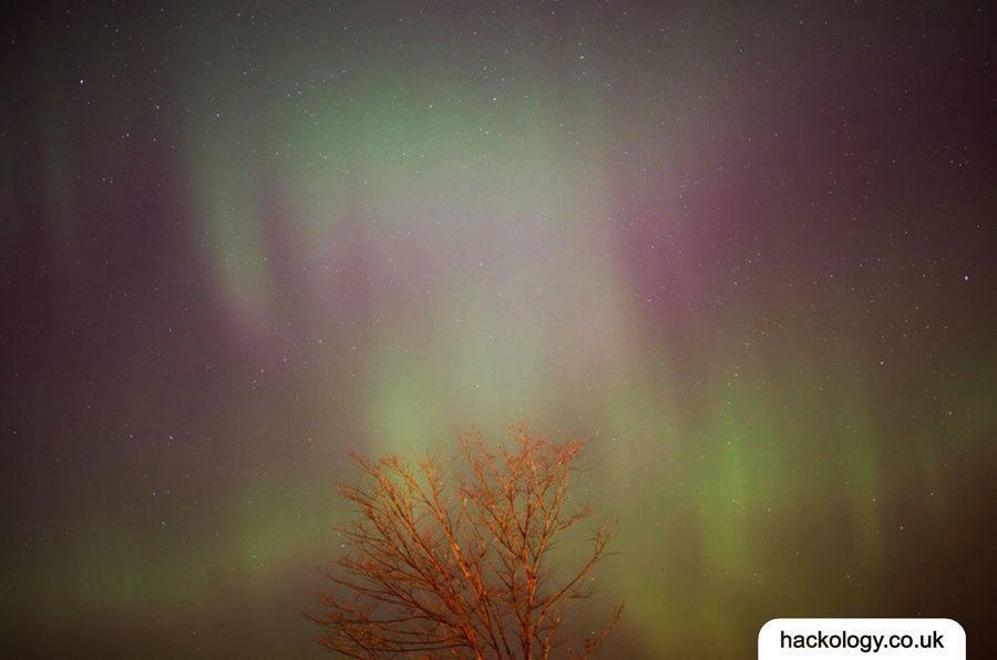 Northern lights over Tallinn, Estonia
