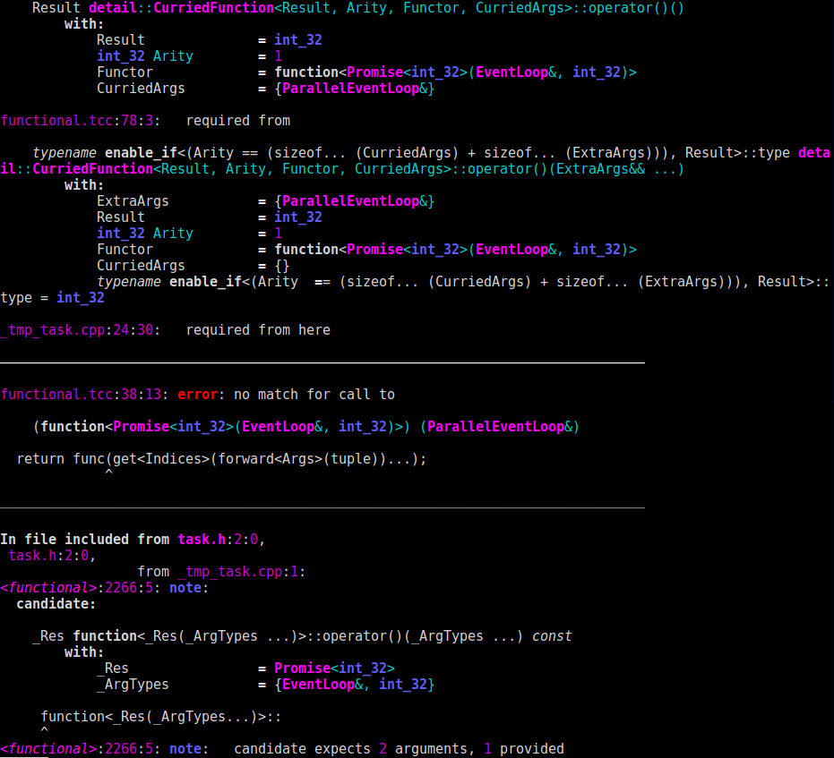 c++ pretty output